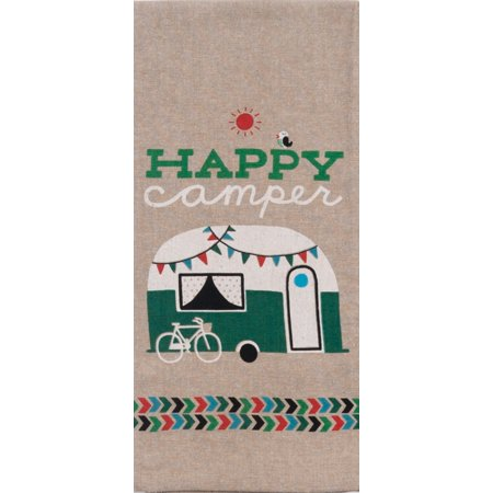 Happy Camper RV Weekend Getaway Chambray 28 Inch Kitchen Dish Tea Towel