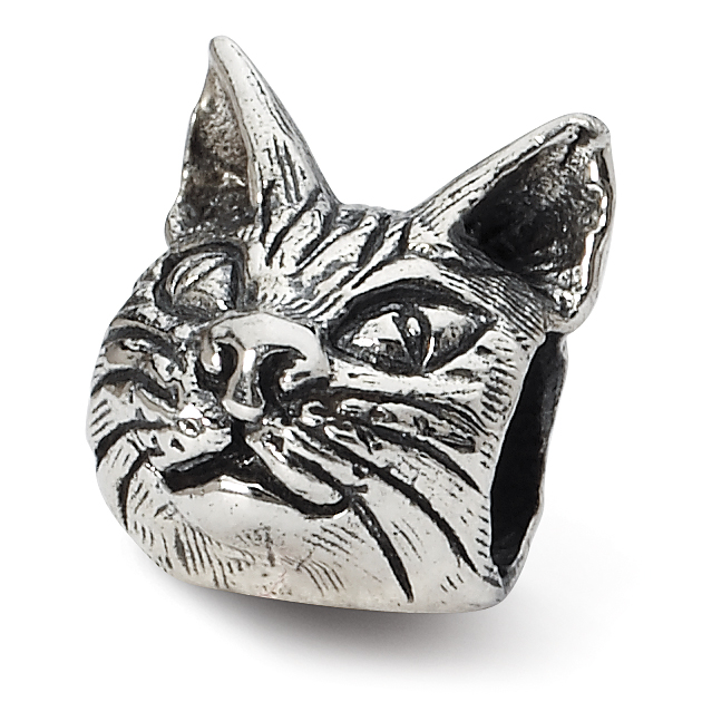 925 Sterling Silver Charm For Bracelet Maine Coon Cat Head Bead Animal Fine Jewelry Gifts For Women For Her - image 4 de 4