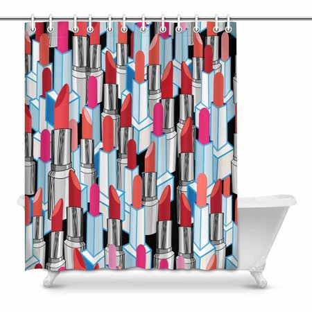 POP Colful Lipstick Shower Curtain Decor 60x72 inch - image 1 of 1