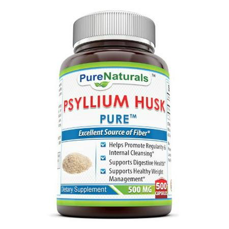 Equi Aid Psyllium (Pure Naturals Psyllium Husk 500 Mg 500 Capsules )