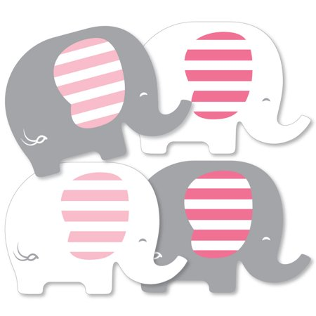 Pink Elephant - Decorations DIY Girl Baby Shower or Birthday Party Essentials - Set of 20 - Toddler Girl Birthday Party Ideas