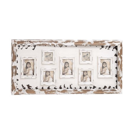 Decmode-wood Wall Photo Frame -multi Col (Nostalgic Photo)