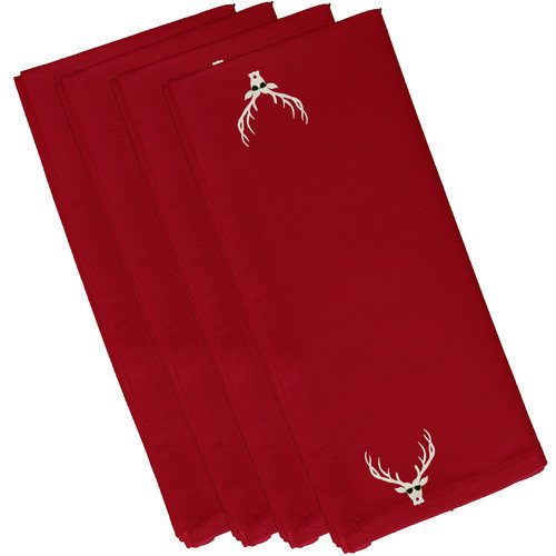 e by design Warmest Wishes Holiday Animal Print Napkin (Set of 4)