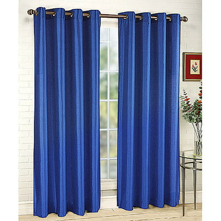 Upc 090682343915 Stylemaster Tribeca 56 By 95 Inch Faux Silk Grommet Panel Cobalt