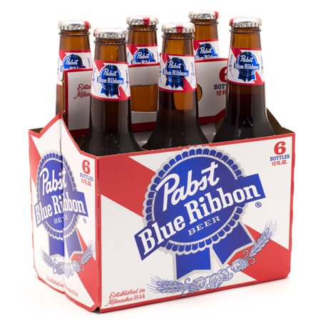 Pabst Blue Ribbon Beer, 6 pack, 12 fl oz