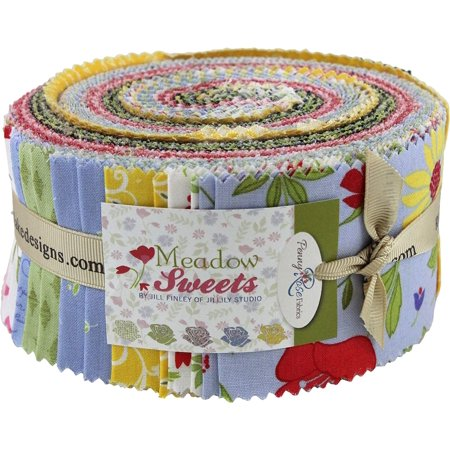 Jill Finley Meadow Sweets Rolie Polie 40 2.5-inch Strips Jelly Roll, Meadow Sweets collection from Penny Rose Fabrics By Penny Rose Fabrics - Rolie Polie Olie Halloween