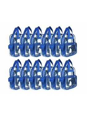 DALIX Clear Backpack for School Transparent Bags Girls Boys Royal Blue 12 Pack