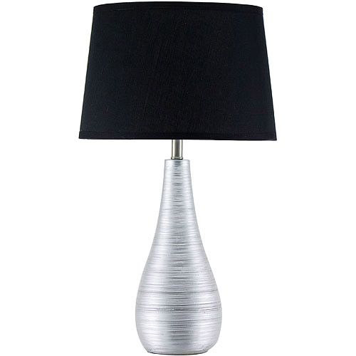 """22"""" Table Lamp, Polyresin With Silver-Color Finish"""