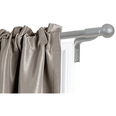 Design Mode 32-1014-6BN 36-72 in. Plated Brushed Nickel Finish Single Rod Window Hardware with Resin Finial - image 1 of 1