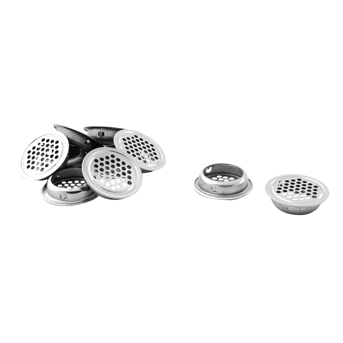 Household Metal Round Mesh Hole Shoes Cabinet Air Vent Louver Cover 10pcs