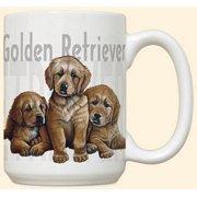 Golden Retriever Puppies Mug by Fiddler's Elbow - C111FE