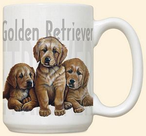 Golden Retriever Puppies Mug by Fiddler's Elbow - C111FE