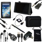 """Fire HD 8 2015 Case and Accessories - DigitalsOnDemand ® 12-Item Kit for Amazon Fire HD 8"""" 5th Generation Tablet - Leather Case, Sleeve Cover, Screen Protector, Stylus Pen, USB Cables + Charger"""