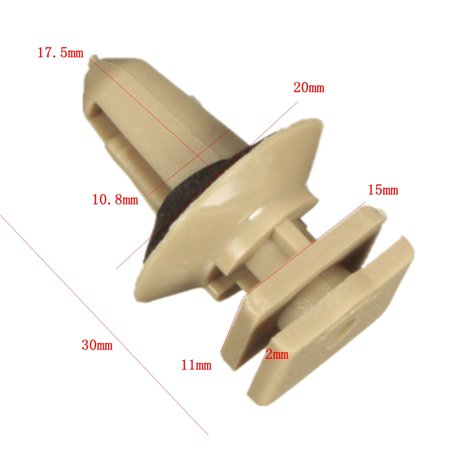 10 x Interior Plastic Clips For BMW Trims Sill Door Entrance Bottom 51477117532 - image 5 of 7