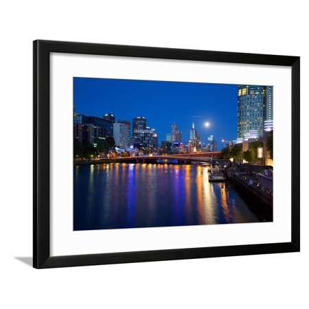 City Skyline from Southbank Promenade, Melbourne, Victoria, Australia, Oceania Framed Print Wall Art By Frank Fell