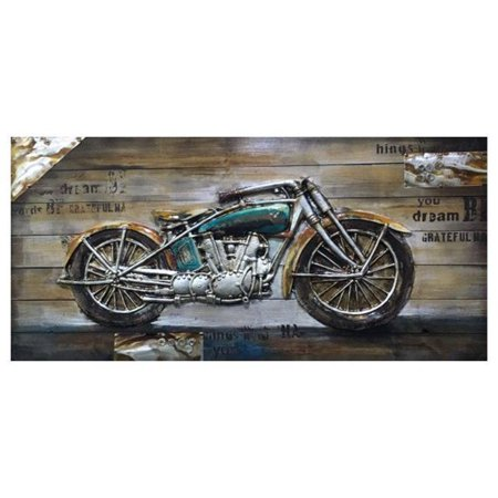 Yosemite Home Decor 3130049 Bike Passion I Wall Art on Wood, Mutlicolor - image 1 of 1