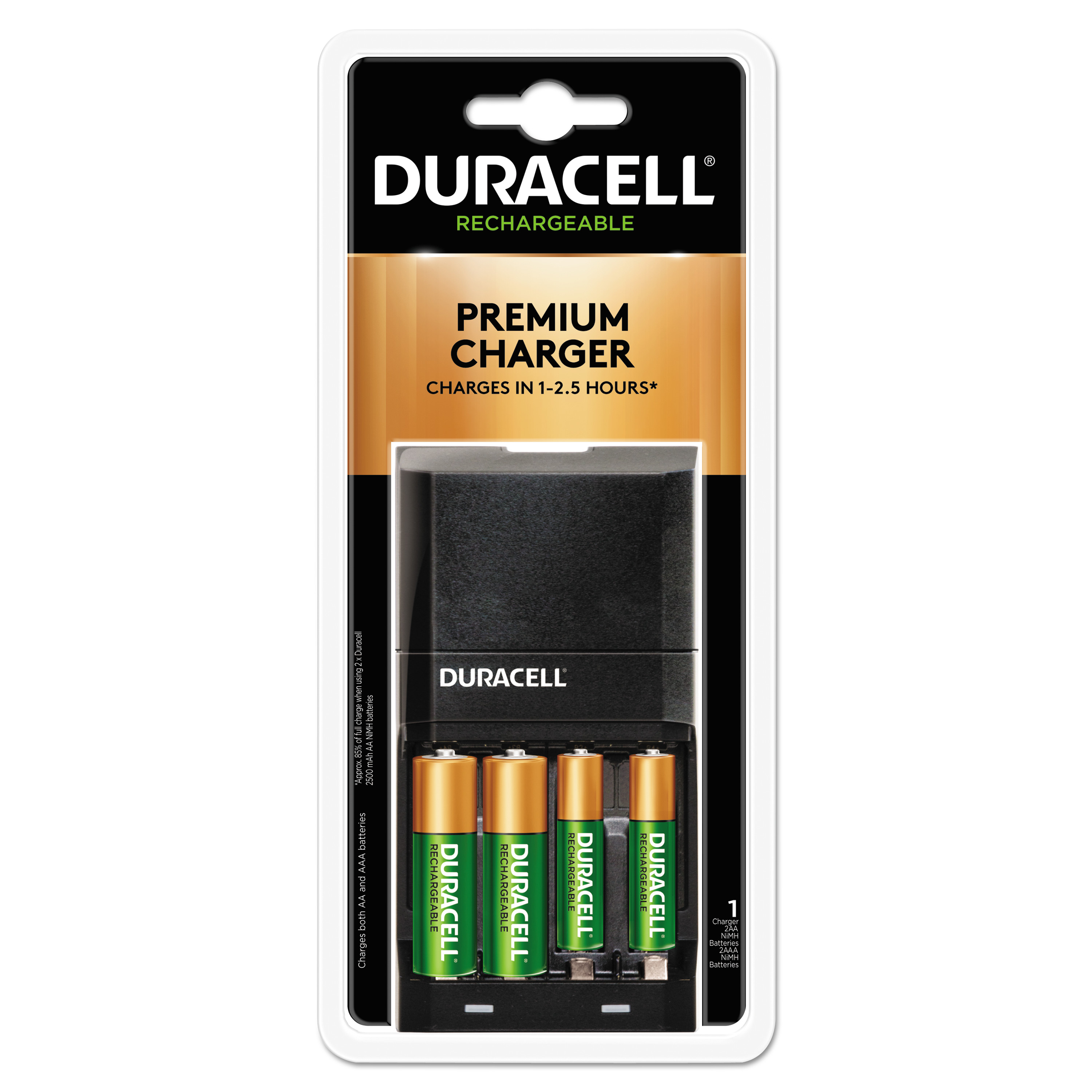 Duracell Ion Speed 4000 Hi Performance Charger Includes 2