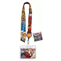 Marvel Avengers Iron Man Lanyard with Retractable Card Holder