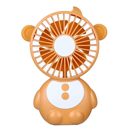 DC5V 1.2-4W 3 Levels Wind Speed Adjustable Mini USB Powered Operated Fan with LED Light Dimmable Built in High Capacity 1200Mah Rechargeable Battery Fan Portable Indacator Pilot Lamp Design for Mobile 3 Built In Fans