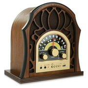 PUNP37BT - Vintage Style Bluetooth Radio - Classic Design Stereo Speaker System