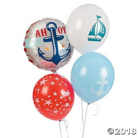 Nautical Baby Shower Balloon Set Assortment for $<!---->