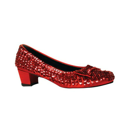 Ellie Shoes E-153 Judy 1 Heel Sequined Slipper Shoe Children Red / L - Slipper Heels Shoes