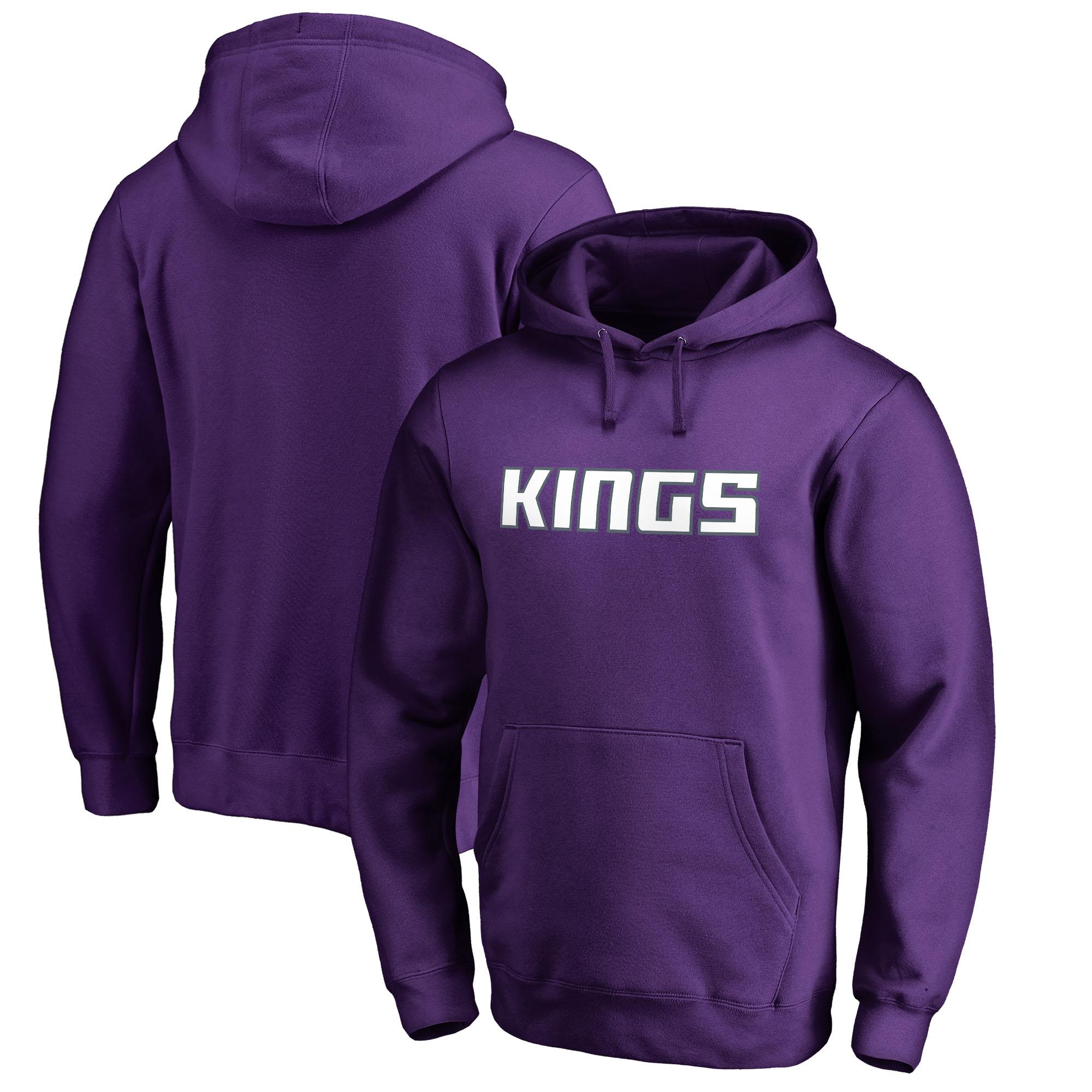 Sacramento Kings Fanatics Branded Wordmark Pullover Hoodie - Purple
