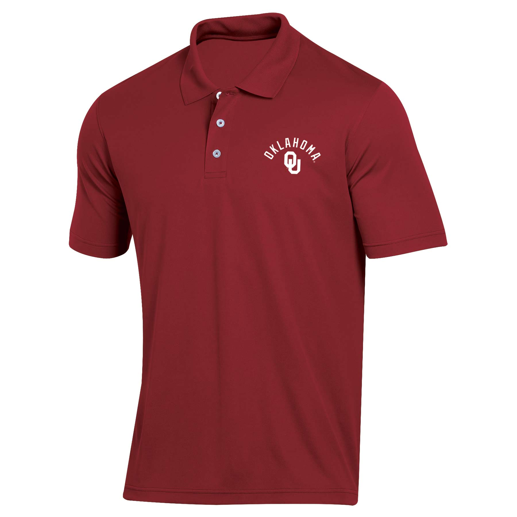 Men's Russell Crimson Oklahoma Sooners Big & Tall Classic Dot Mesh Polo