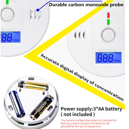 1.ALARM WARNINGWhen a dangerous level of carbon monoxide is detected the red LED will flashes and a loud alarm pattern will sound--Loud 85 decibel alarm with LED Flash.2.ALARM STANDARD50ppm, aler - image 1 de 15