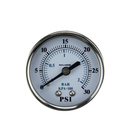 Pool Central Back Mount Stainless Steel Pressure Gauge 2