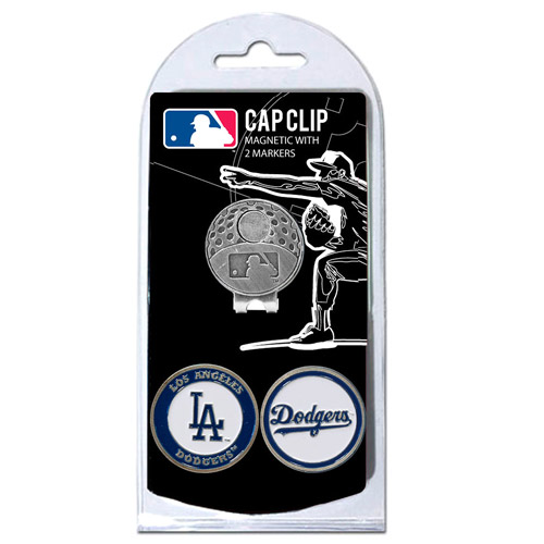 Team Golf MLB Los Angeles Dodgers Cap Clip With 2 Golf Ball Markers