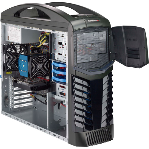 Supermicro Black Gaming Premier SYS-5038AD-GP-WI001 Desktop PC with Intel i5-4570 Quad-Core Processor, 16GB Memory, 240GB SSD and Windows 8.1  (Monitor Not Included) (Eligible for Windows 10 upgrade)