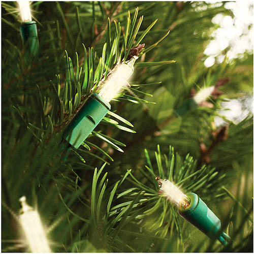 Holiday Time 16 Function Memory Christmas Lights Clear, 150 Count