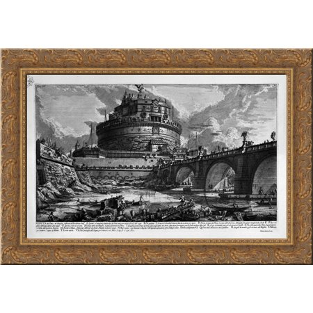 The Roman antiquities, t. 4, Plate III. Table of Contents Volume in this quarter 24x19 Gold Ornate Wood Framed Canvas Art by Piranesi, Giovanni (The Art Of Seduction Table Of Contents)