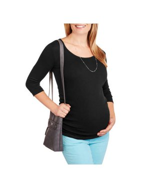 Planet Motherhood Maternity 3 4 Sleeve Scoopneck Tee Available in Plus Sizes