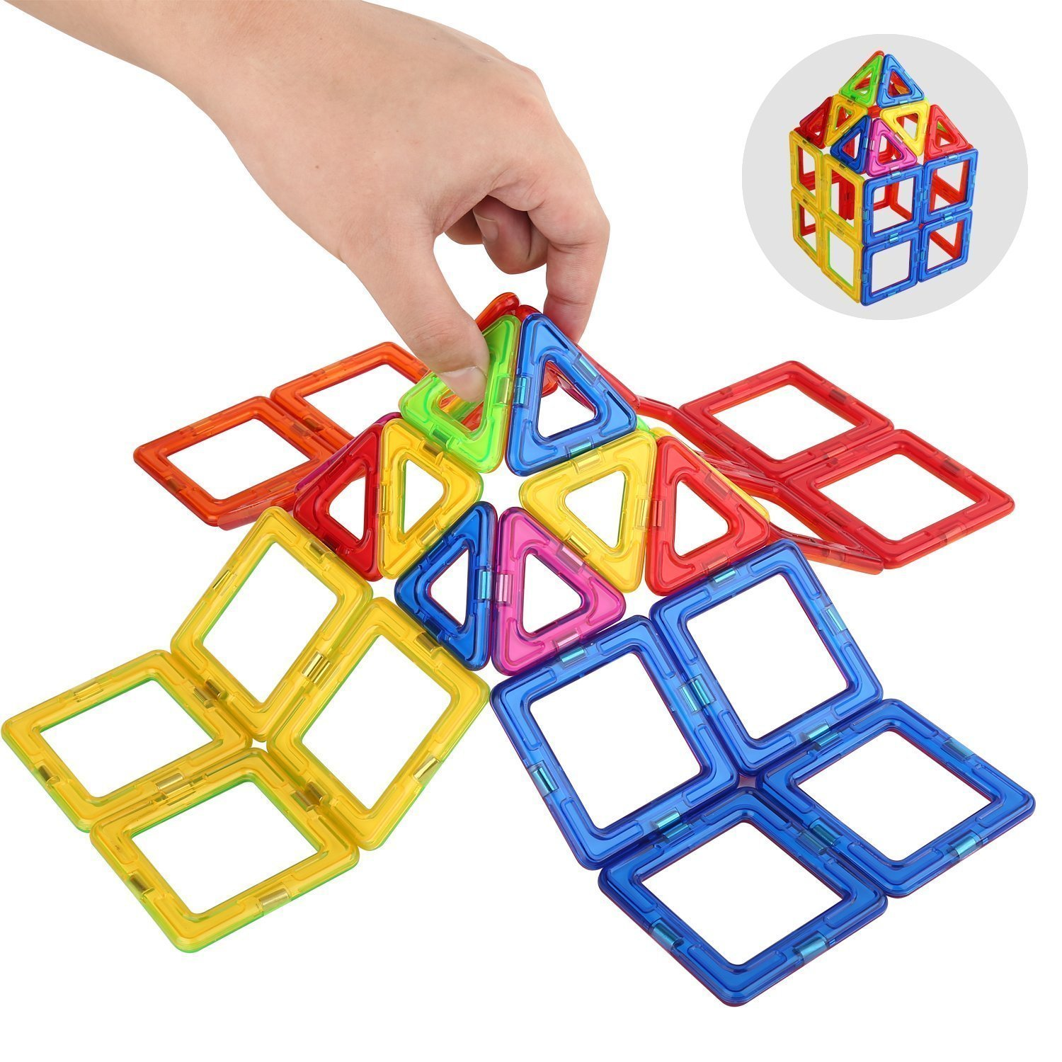 3D Magnetic Toys Tiles Set Preschool Educational Construction Learning 106 pcs