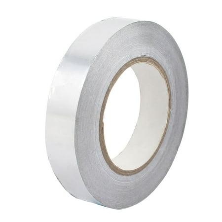 25mm Width Aluminum Foil Tape HVAC Heat Shield Duct Sealing Adhesive 50M Length Alum Foil Tape