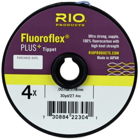 Fluoroflex Plus Tippet - Rio: Fluoroflex Plus Tippet, 30 yrd, 0X, Available on 30 yd (27.5 m) spools 7x - 0.015 inches, and 110 yd (100 m) Guide Spools 6x - 2x By Rio Products Ship from US