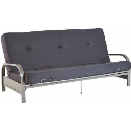 Mainstays Silver Metal Arm Futon Frame With Full Size Mattress Multiple Colors Com