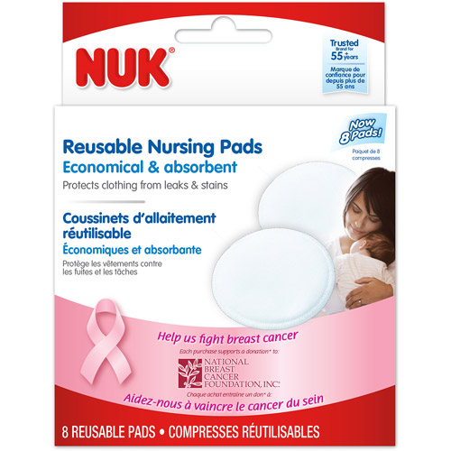 NUK Reusable Nursing Pads, 8-Count