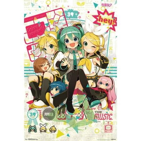 Trends International Hatsune Miku Hey Wall Poster 22375 X 34