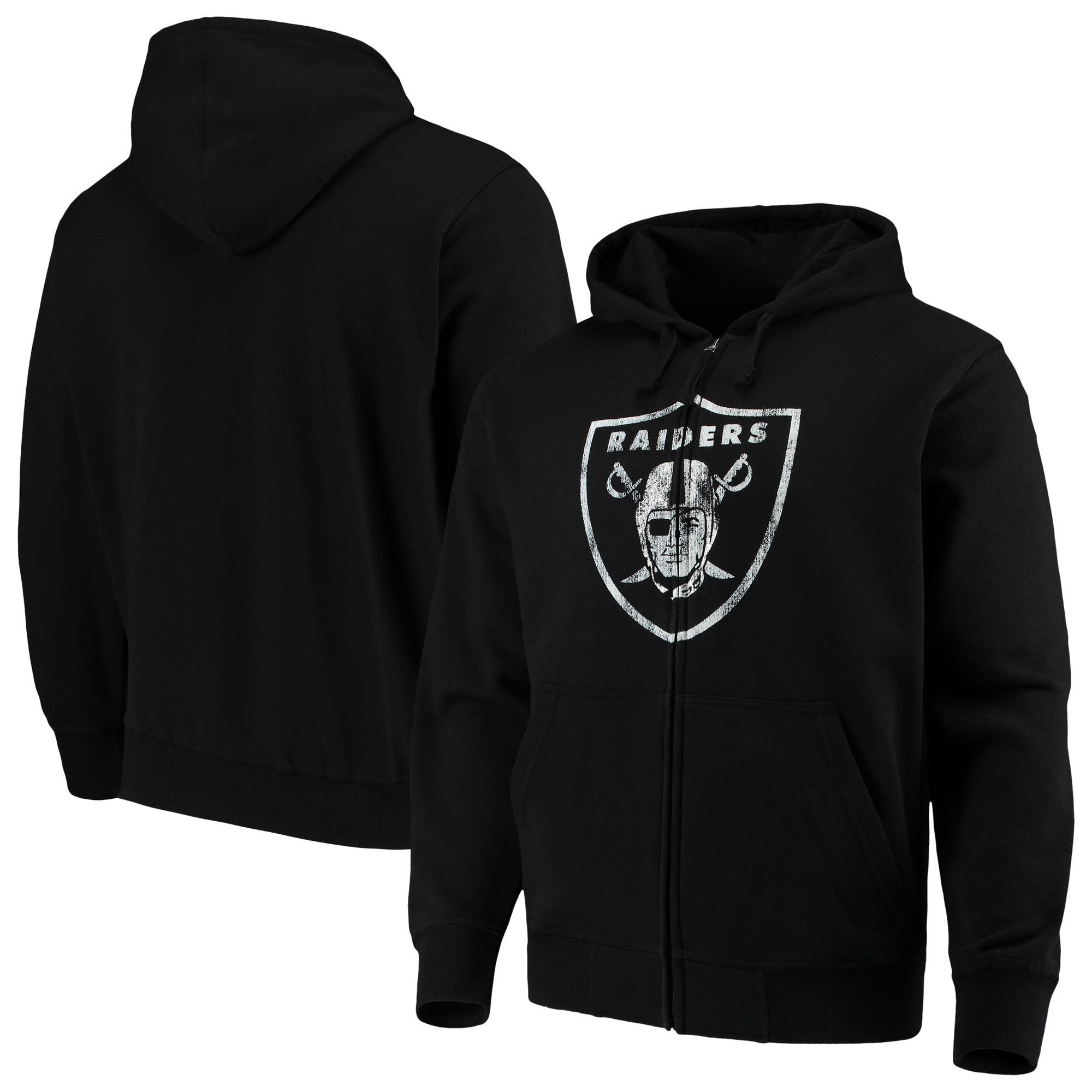 Oakland Raiders G-III Sports by Carl Banks Primary Logo Full-Zip Hoodie - Black