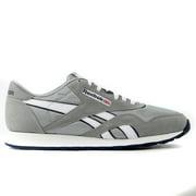 reebok basketball shoes white. reebok classic nylon running shoe - platinum/jet blue mens basketball shoes white