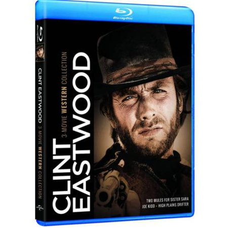 Clint Eastwood  3 Movie Western Collection   Two Mules For Sister Sara   Joe Kidd   High Plains Drifter  Blu Ray