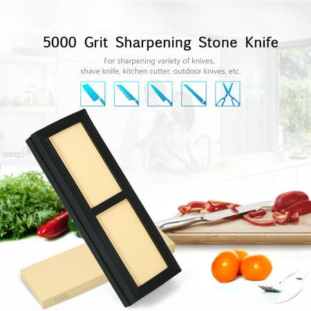 5000 Grit Sharpening Stone Knife Sharpening Stone Knives Polishing Stone with Rubber Stone Holder Fine Whetstone Grindstone 180*60*15mm - image 3 de 7