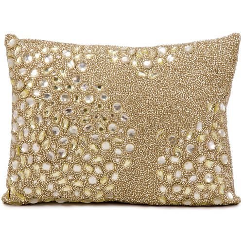 Luminescence Fully Beaded Decorative Pillow by Nourison by Nourison Rug Corp