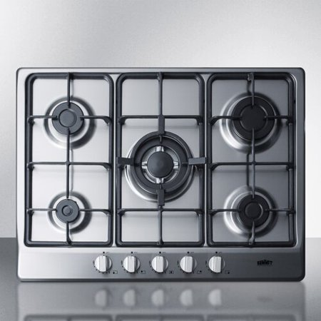 Summit Appliance 27'' Gas Cooktop With 5 Burners Biscuit Gas Cooktop Appliance