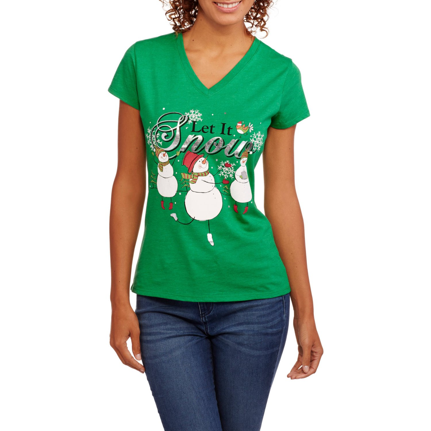 t-shirt fitted short sleeve womens Do You Want to Build a Snowman