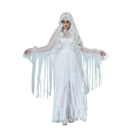 california costumes women's ghostly spirit, white, large
