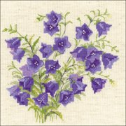 """Bellflower Counted Cross Stitch Kit-7.75""""X7.75"""" 14 Count"""